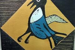 Billed nr. 5 Fugl på guldbund - 20 x 20
